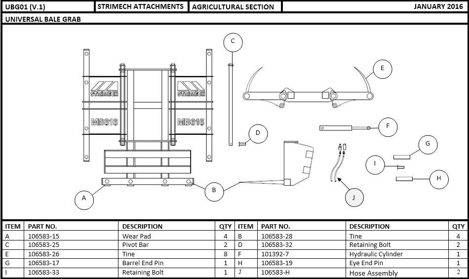 Universal Bale Grab Parts Breakdown | Strimech Engineering